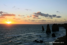 Sun is on the 12 apostles