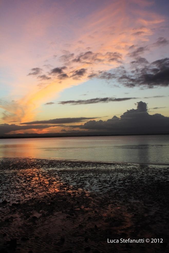 The rainbow of the sunset