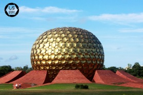 The golden golf ball - Auroville