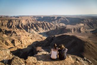 Fish River Canyon with a tripod